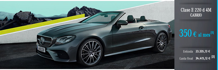 Oferta Mercedes Clase E 220 d Cabrio con Mercedes-Benz Alternative